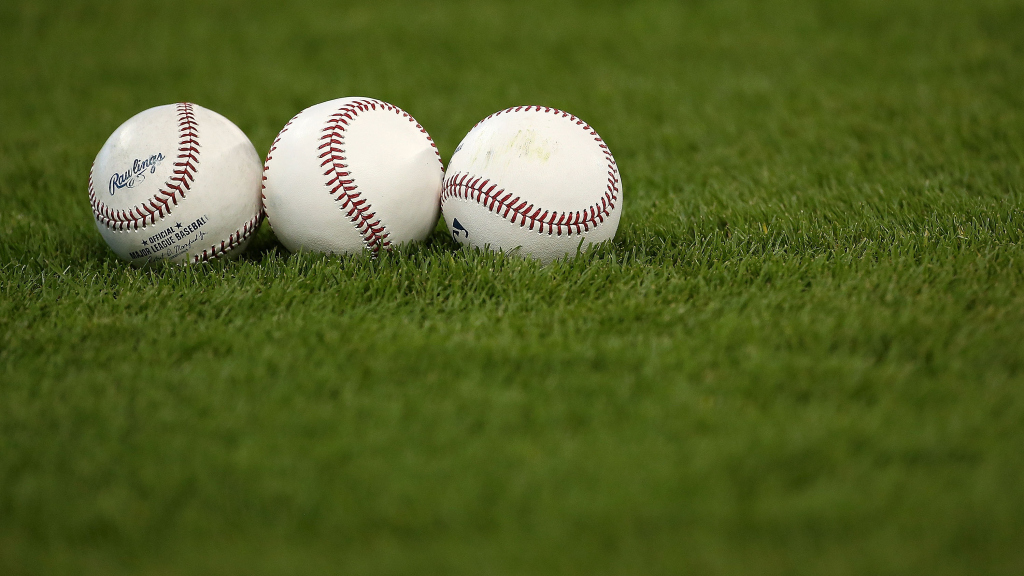 MIAMI, FL - MAY 17: Baseballs sit on the field prior to a game between the Miami Marlins and the Atlanta Braves at Marlins Park on May 17, 2015 in Miami, Florida.  (Photo by Mike Ehrmann/Getty Images)
