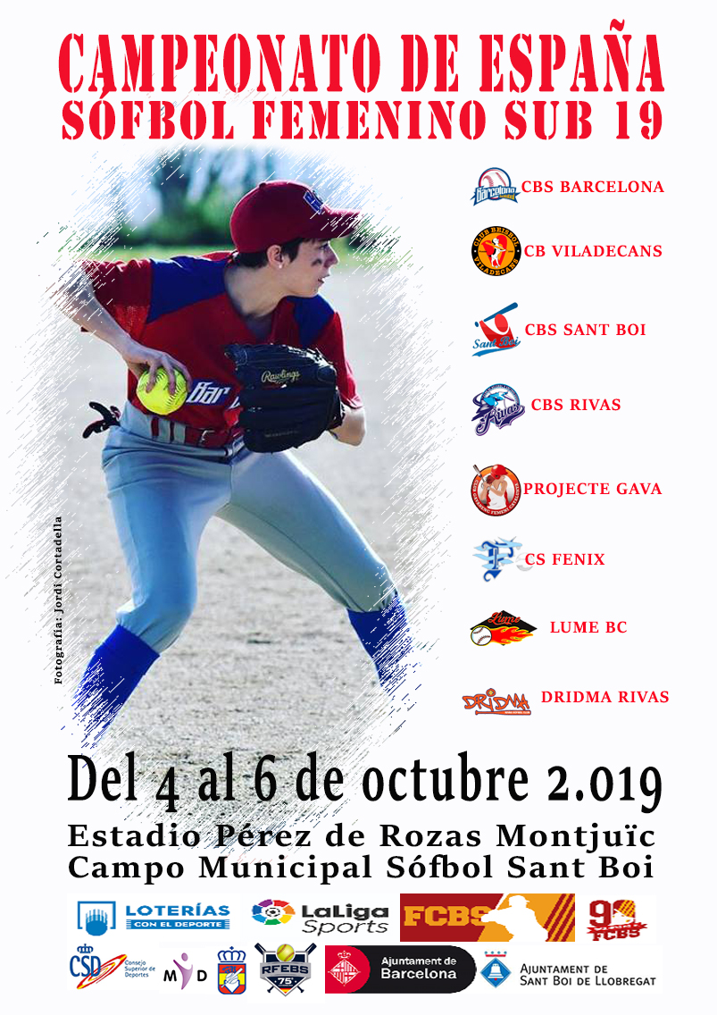 Cartel softbol sub 19 DIN A4